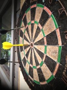 Fun on the deck: mind the darts!