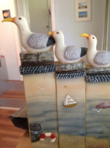Just what I need in my room.. 3 angry seagulls all in a row.