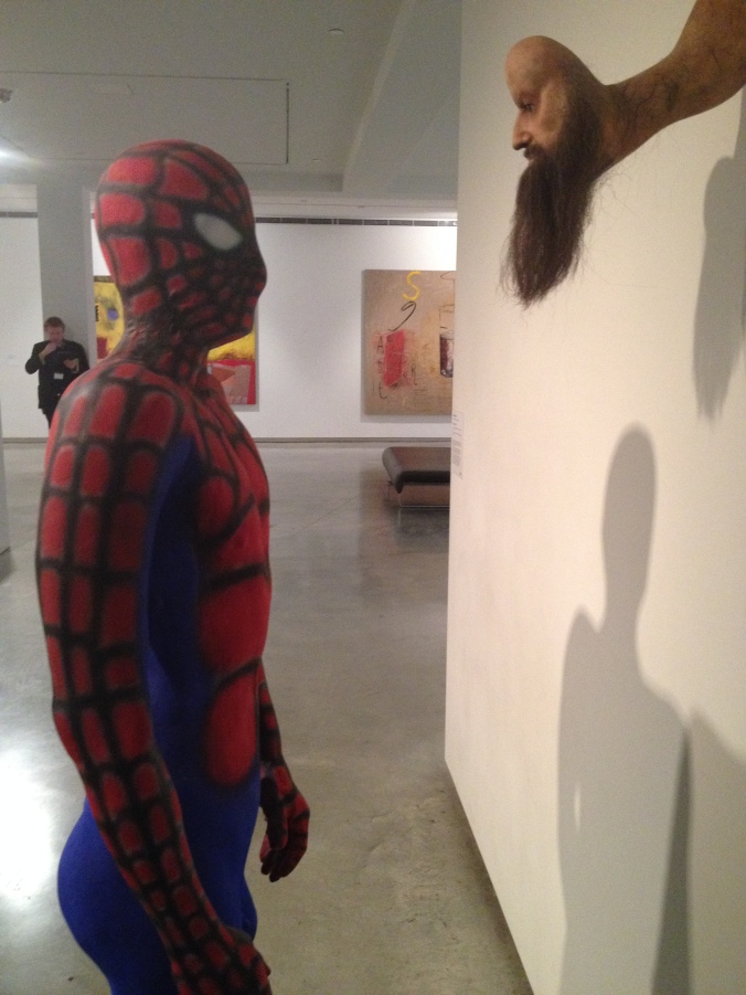 "This is must be what Spider Boy meant when he said the museum is ""stylish and cool""."