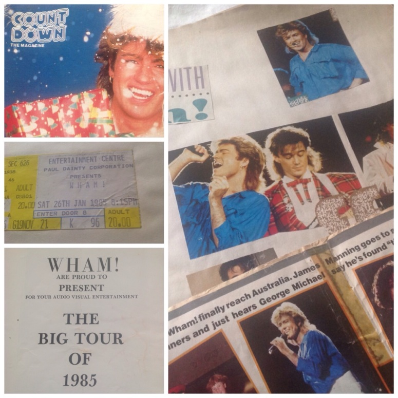 Some exclusive pictures from my official Wham! Scrapbook. Maybe it's time to let go now? I am forty-f'ing-five, after all.