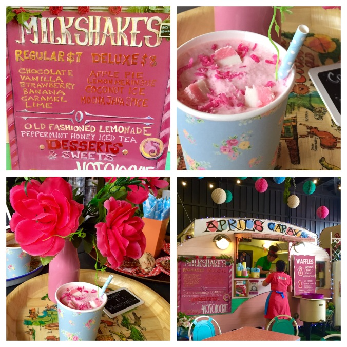 Milkshakes from April's Caravan at the Hamlet