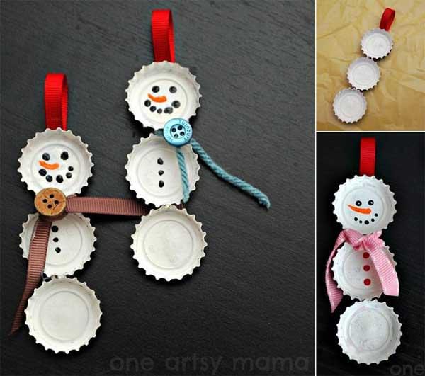 Beer-cap-snowman