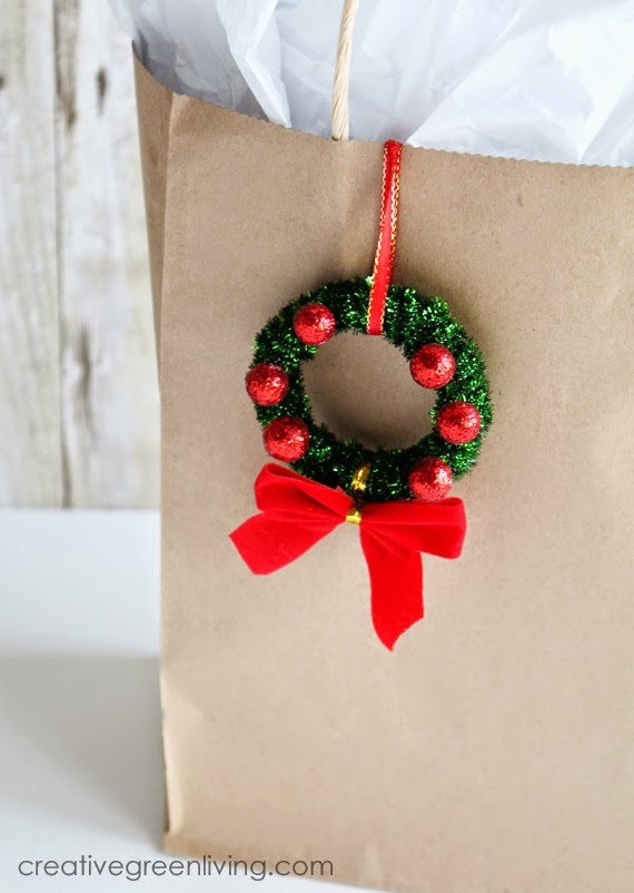 ornament on a gift bag