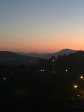 The sun sets on our first day in Canberra