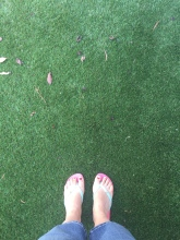 Fake grass means I live where the grass is greener