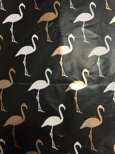 I love a flamingo... thanks Señorita Margarita for my birthday wrapping paper