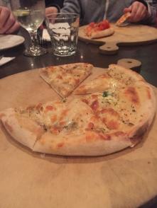 Cheesy garlic bread at Belluci's Woden
