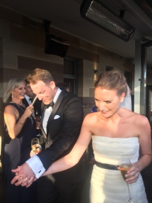 My cousin Angus's New Year's Eve wedding by the harbour. He married the lovely Alex (a different Alex)