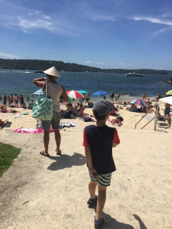 Our last day in Sydney in January. One of my favourite beaches in the world, Neilsen Park beach in Sydney's east.