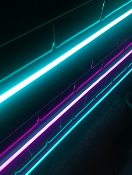 Neon is the order of the day.