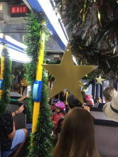 Spider Boy and I spent three weeks in Sydney over Summer. Here's one Sydney bus on Boxing Day: It was a Christmas Bus!