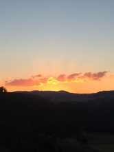 Wallaroo sunset over the Brindabellas